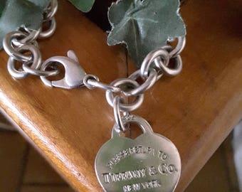 Tiffany & Co silver bracelet 925 - RETURN TO TIFFANY - fine silver - Valentine's day
