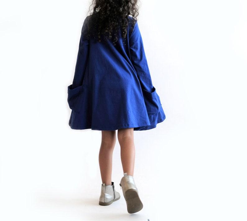 6651aa4cef673 Pocket Swing Dress/Tunic in Royal Blue Circle Dress Twirl | Etsy