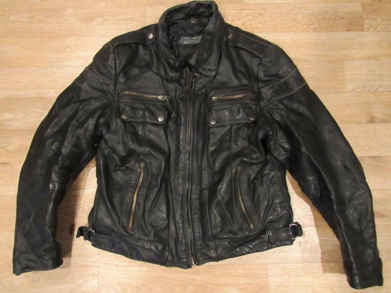 b18ff049f112 Vintage Harley Davidson Leather Jacket Motorcycle Coat