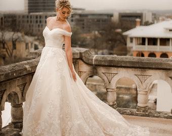Gold wedding dress | Etsy