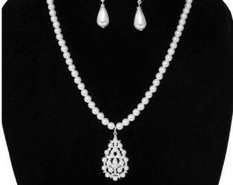 Faux Pearl Jewelry Set