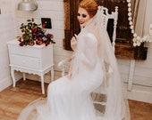 Spotted Glitter Tulle Veil, long glitter tulle veil, Speckled Glitter Tulle Veil, Berta Inspired Long Glitter veil, Royal Length Veil