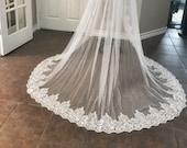 Silver threaded long lace...