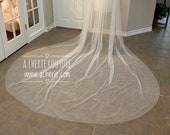 SALE- Wide and Long Pearl Veil