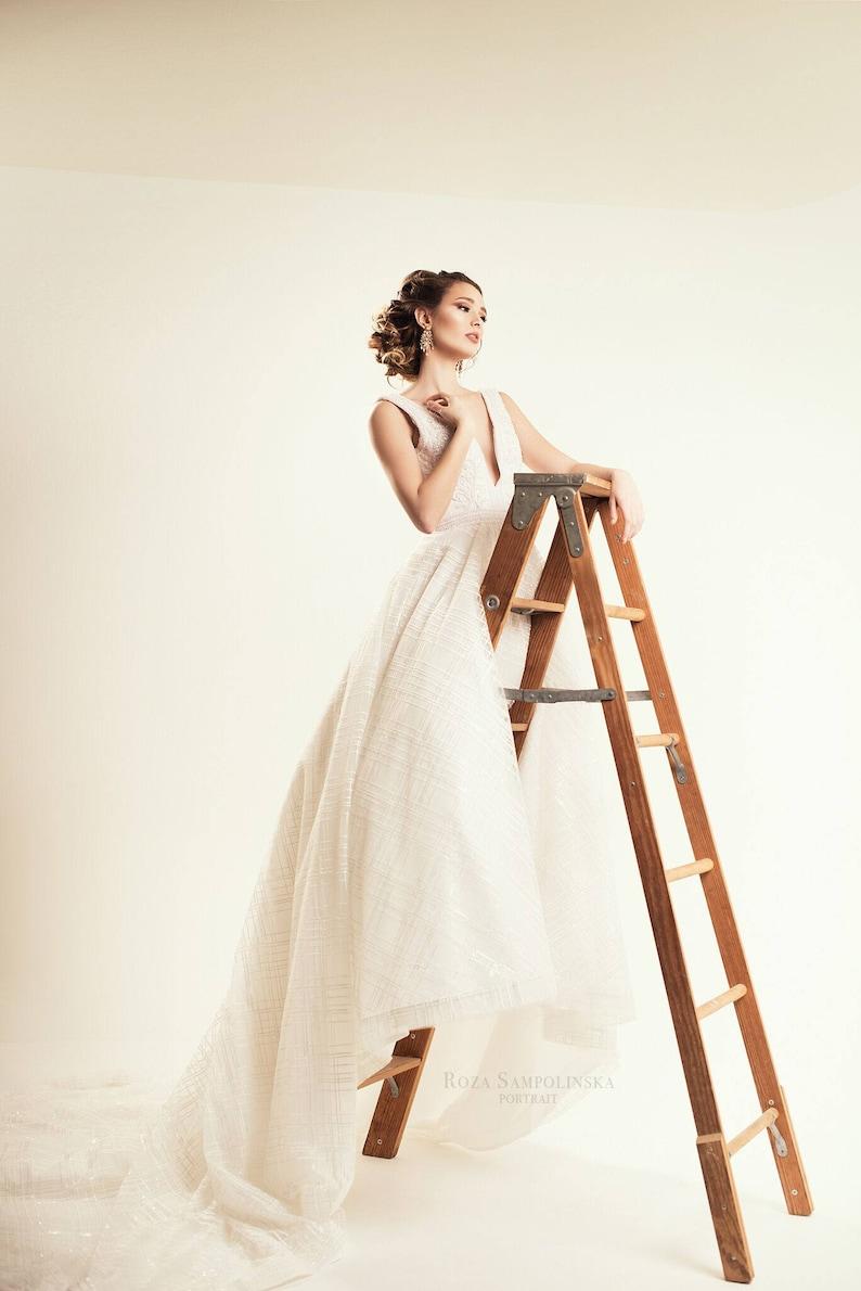 b5825f2bc Anastasia Beaded Cross Hatch Wedding dress Corset Back