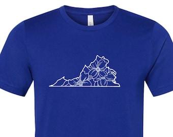 Virginia Shirt, Virginia State, Virginia Pride Shirt, Virginia Spring Shirt, Dogwood Virginia Shirt, State of Virginia, Virginia State Flowe