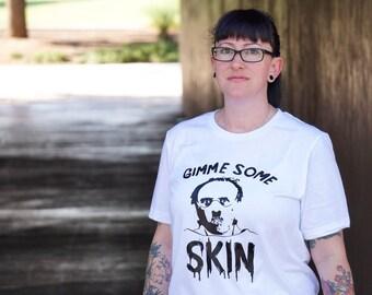 Horror Halloween Shirt | Hannibal Lecter Shirt | Gimme Some Skin | Horror Shirt | Kids Halloween | Womens Halloween Shirt | Mens Halloween