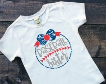 Baseball Sister Shirt | Kids Baseball Shirt | Girls Baseball Shirt | Baseball Raglan | Sister Baseball Shirt | Baseball Shirt for Girls