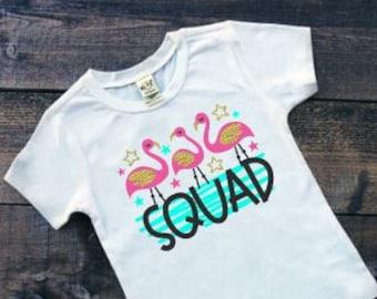 Girls Flamingo Shirt | Flamingo Shirt for Girls | Summer Shirts | Flamingo Squad Shirt | Girls Zoo Shirt | Flamingle Shirt | Flamingo Party