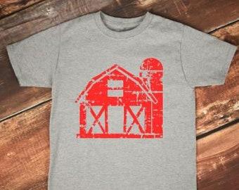 Kids Shirt | Kids Farm Shirt | Kids Barn Shirt | Distressed Barn Shirt | Farm Birthday Shirt | Old McDonald Shirt | E I E I O | Farm House