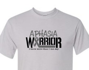 Aphasia Awareness Shirt | Aphasia Shirt | Aphasia Warrior | Aphasia Strong | Grey Ribbon Shirt | I Know More Than I Can Say | Aphasia
