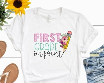 Back to School Shirt | Girls Back to School Shirt | First Day of School l Shirt for Girls | Personalized Back to School Shirt | On Point