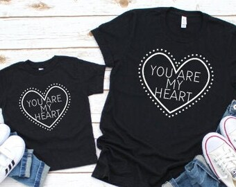 Mommy and Me Shirts | Matching Shirts | You are my Heart| Mama's Life | Mother Son Matching Shirts | Mother Daughter Matching Shirts