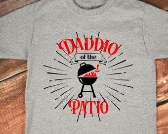 Fathers Day Gift  | Daddio of the Patio | Funny Gifts for Dad | Dad Jokes Shirt | Grill Shirts | Grilling Shirts | Dad Grilling Shirts | Dad