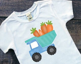 Boys Easter Shirts | Easter Shirts for Boys | Easter Dump Truck Shirt | Carrot Truck Easter Shirt | Truck With Carrots Shirt | Watercolor