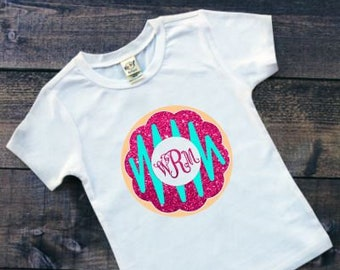 Donut Shirt | Girls Donut Shirt | Monogrammed Donut Shirt | Donut Birthday Shirt | Personalized Donut Shirt | Donut Shirt with Monogram