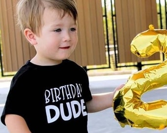 Birthday Shirt | Birthday Dude Shirt | Personalized Birthday Shirt | Boys Custom Birthday Shirt| Monochrome Birthday Shirt | Birthday Boy