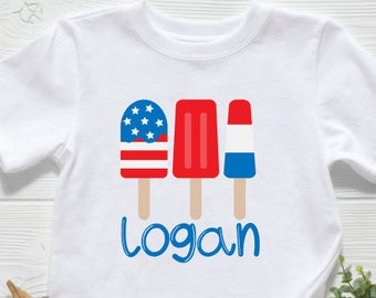 Patriotic Shirt | July 4th Shirt | Memorial Day Shirt | July 4th Popsicles Shirt | Personalized July 4th Shirt | Bomb Pop Shirt | Monogramme