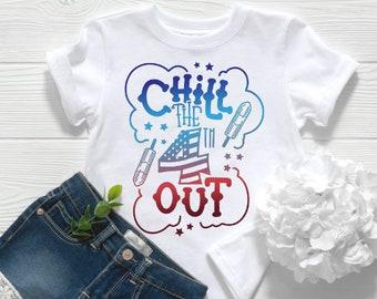 Kids Patriotic Shirt | Adult Patriotic Shirt | July 4th Shirt | Memorial Day Shirt | Chill the 4th Out | Funny July 4th Shirt | Bomb Pop