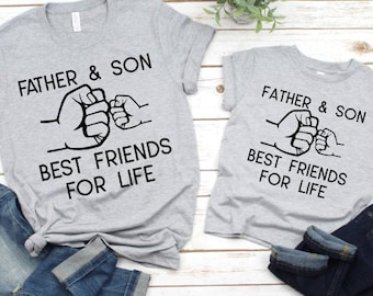 Daddy and Me Shirts | Matching Shirts | Father and Son Best Friends For Life | Fist Bump BFF Shirts | Father Son Matching Shirts | Fathers D
