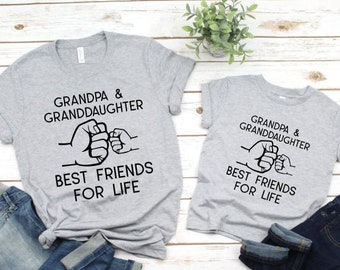 Grandpa and Me Shirts | Matching Shirts | Grandpa and Granddaughter Best Friends For Life | Fist Bump Shirts | Grandpa and Granddaughter