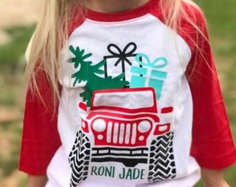 Christmas Shirt for Kids | Kids Christmas Shirt | Jeep Christmas Shirt | Boys Christmas Shirt | Girls Christmas Shirt  |  Christmas Jeep