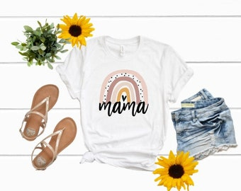 Mom shirts | Rainbow Mama Shirt | Mom Life Shirt | Mothers Day Gift | Gifts for Mom | Mama | Mama Ranbow Shirt | Mama Shirt | Boho Mama