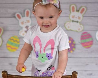Girls Easter Shirts | Easter Shirts for Girls | Bunny Easter Shirt | Monogrammed Easter Shirt | Personalized Easter Shirt | Floral Bunny