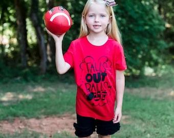 Football shirts, Football Shirts for Women, Football Season Shirt, Team Spirit Shirt, Football Shirt for kids, Falls Out Balls Out shirt