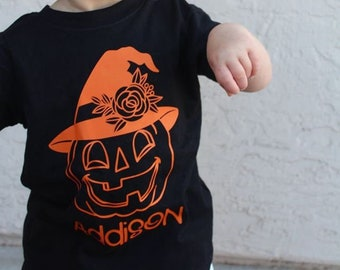 Girls Fall Shirt, Pumpkin Patch Shirt, Girls Halloween Shirt, Pumpkin Name Shirt, Fall Shirts for Girls, Halloween Shirt for Girls, Witch