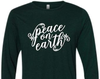 Christmas Shirt for Women, O Night Divine Shirt, Christian Christmas Shirt, Nativity Christmas Shirt, Peace on Earth Shirt, Christmas Shirt