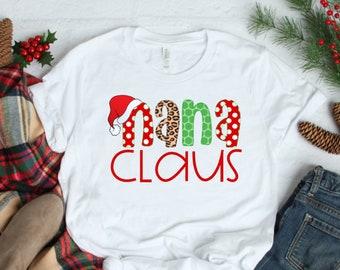 Christmas Shirt for Women | Women's Christmas Shirt | Nana Claus Shirt | Christmas Nana Shirts | Nana Christmas Shirt | Grandma Christmas