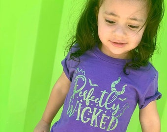 Villain Shirt, Womens Halloween Shirt, Perfectly Wicked Shirt, Kids Halloween Shirt, Halloween Shirt for Women, Villain Squad, Evil Queen
