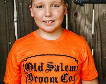 Womens Halloween Shirt, Hocus Pocus Shirt, Hocus Pocus Shirt, Kids Halloween Shirt, Old Salem Broom Company Shirt, Witch Shirt, Salem Witch
