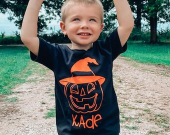 Boys Fall Shirt, Pumpkin Patch Shirt, Boys Halloween Shirt, Pumpkin Name Shirt, Fall Shirts for Boys, Halloween Shirt for Boys, Monogram Hal