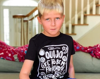 Kids Halloween Shirt, Ouija Like to Be My Friend, Halloween Shirt for Boys, Halloween Shirt for Girls, Halloween Shirt for Kids, Ouija Board