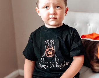 Kids Halloween Shirt, My Dog is my Boo Shirt , Dog Halloween Shirt, Halloween Shirt for Boys, Halloween Shirt for Girls, Kids Halloween Sh