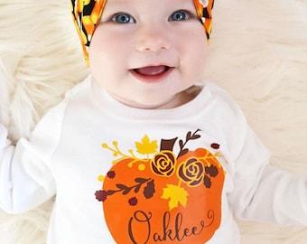 Girls Fall Shirt | Personalized Fall Shirt | Personalized Pumpkin Shirt | Baby Girl Fall Outfit | Pumpkin Shirt | Girls Shirt for Fall