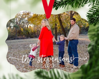 Family Photo Christmas Ornament, Personalized Ornament, Custom Photo Ornament, 2020 Christmas Ornament, Family Portrait Ornament, Christmas