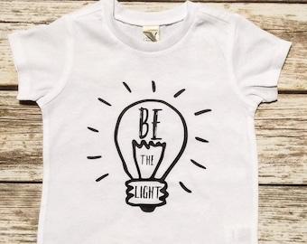 Kids Shirt | Toddler Shirt | Christian Shirt | Be the Light | Christian Shirt for Kids | Bible Verse Shirt | Wear Your Faith