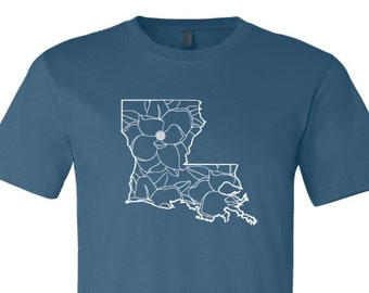 Louisiana Shirt, Louisiana Magnolia Shirt, Louisiana State, Louisiana Pride Shirt, Louisiana Spring Shirt, Magnolia Shirt, State of Lousiana