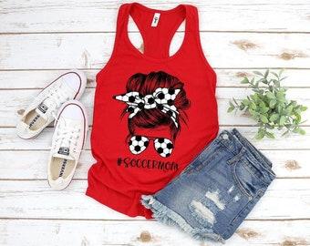 Soccer Mom Shirt, Soccer Mom Tank, Soccer Mama, Soccer Mom Life, Messy Bun Soccer Mom Shirt , Sports Mom Shirt, Soccer Mom Life, Soccer Life