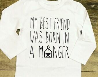 Christmas Shirt for Kids | Kids Christmas Shirt | Happy Birthday Jesus | Boys Christmas Shirt | Girls Christmas Shirt | Nativity Shirt