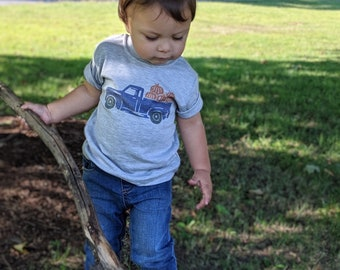 Kids Fall Shirt | Fall Shirt for Boys | Boys Fall Shirt | Pumpkin Shirt | Baby Boy Fall Shirt | Truck Shirt | Pumpkin Truck