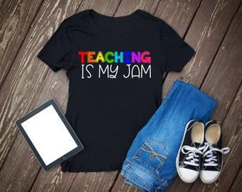 Teacher Back to School Shirt   Teacher First Day Shirt   Teaching is my Jam Shirt   I Love Teaching Shirt  First Day Teacher Gift  