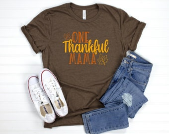 Womens Thanksgiving Shirt | Womens Fall Shirt | Flash Sale | Kids Fall Shirt | Kids Thanksgiving Shirt Shirt | Thankful Mama Thankful Mini
