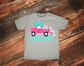 Kids Baseball Shirt | Girls Baseball Shirt | Baseball Name Shirt | Baseball Truck Shirt | Baseball Sister Shirt | Personalized Baseball Shir