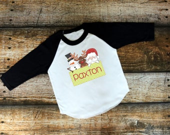 Christmas Shirt for Kids | Girls Christmas Shirt | Boys Christmas Shirt | Christmas Friends Shirt | Santa Frosty Rudolph Shirt | Christmas