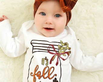 It's Fall Y'all | Baby Girl Fall Shirt | Girls Fall Shirt | Fall Infant Bodysuit | Happy Fall | Baby Girl Fall Outfit | Fall Leaves Shirt