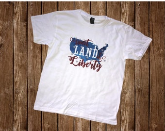 Patriotic Shirt | July 4th Shirt | Memorial Day Shirt | Sweet Land of Liberty | America the Beautiful | Girls July 4th Shirt | Women's July